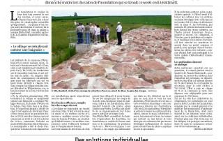 article sur le barrage anti inondation water-gate dans les dernières nouvelles d'alsace