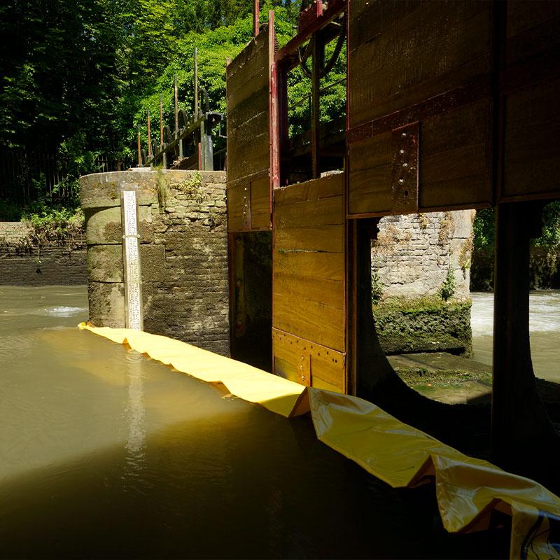 Restauro della vagliatura del Moulin de Pidou XV secolo   Rivière Aa - Paratoia flessibile Water-Gate © WA-2850