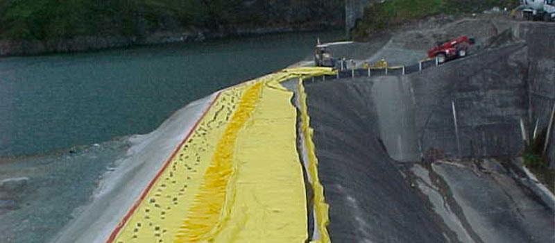 Fortuna Dam | Panama | Elevazione dello sfioratore di una diga idroelettrica.