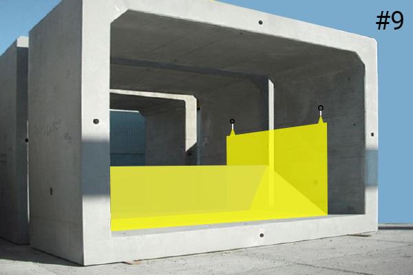 Cofferdams flessibili Water-Gate ©. Schema di installazione in un canale sotterraneo di cemento | Caso n. 9